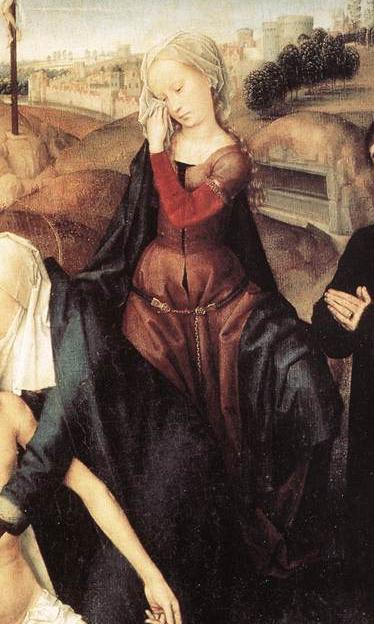 1475-80, MEMLING, Hans, Lamentation, Galleria Doria Pamphilj, Rome detail